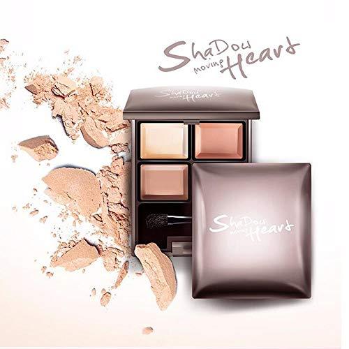 WG Glamour Girl Makeup Kit - 4 Eyeshadow Matte Glitter Pigment Eye Texture Shadow Beauty Makeup,Beige