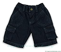 Under The Nile Denim Cargo Shorts, Blue, 24 Months