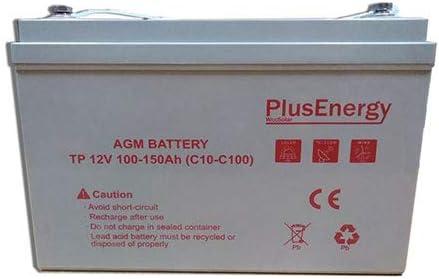 wccsolar.es Bateria AGM Y Gel 12V PlusEnergy 150AH 250AH (AGM 150AH 12V)