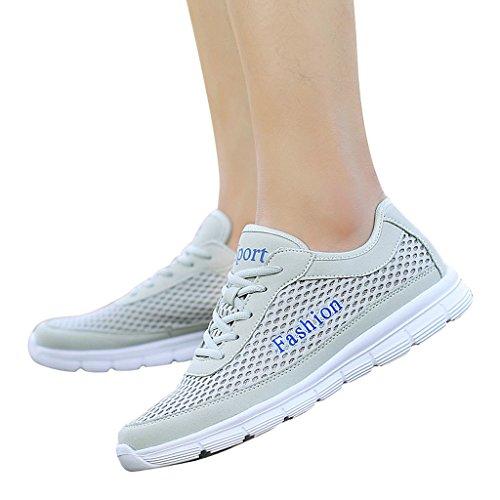 Casual Shoes Mesh Dear Grey Outdoor Sneakers Running Time Men xHIXIrt
