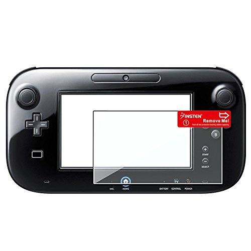 eForCity® Black Silicone Skin Gamepad Controller + Remote + Left Case + Anti Scratch Reusable Screen Protector Compatible With Nintendo Wii U