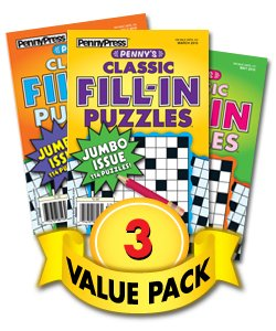 Read Online Penny's Classic Fill-In Puzzles-3 Pack PDF