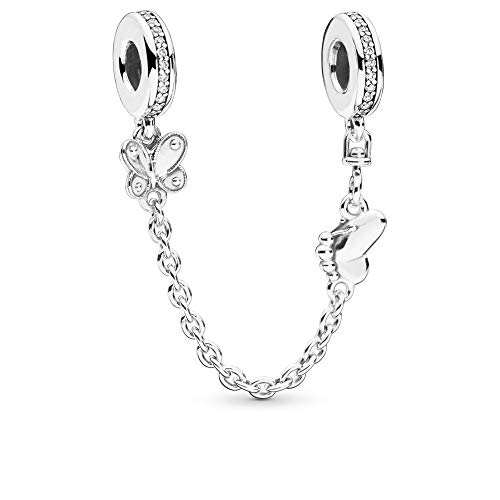 - PANDORA Decorative Butterflies 925 Sterling Silver Safety Chain - 797865CZ-05