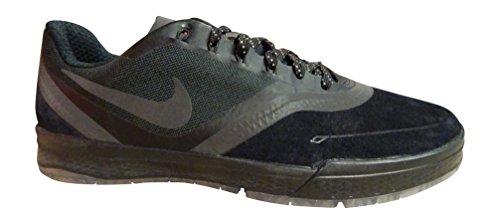 Nike Paul Rodriguez 9 Elite Flash, Zapatillas de Skateboarding para Hombre, Negro / Naranja (Black / Black-Lt Crimson), 42 1/2 EU