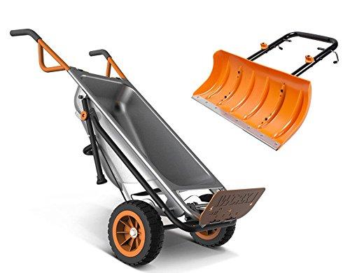 1 Wheelbarrow (addtoword WG050 WORX 8-in-1 Wheelbarrow AeroCart + FREE Snow Plow Accessory WA0230)