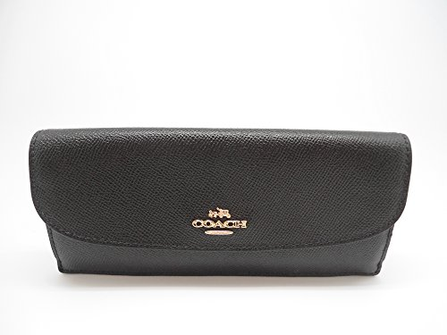 Coach Saffiano Leather Soft Wallet Black F54008 by Coach