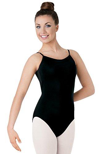 Balera Camisole Dance Leotard Low Back Black Adult Large
