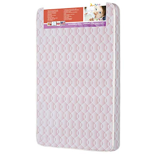 Dream On Me Pocket Coil Graco Carina Collection Pack N Play Mattress, Wave Pink, 3