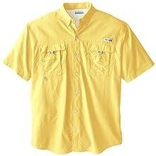 Columbia Men's Bahama II Short Sleeve Shirt, Sunlit, X-Large Tall