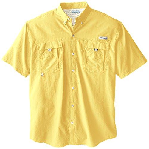 2 Sports Yellow T-shirt (Columbia Men's Bahama II Short Sleeve Shirt, Sunlit, 3X Tall)