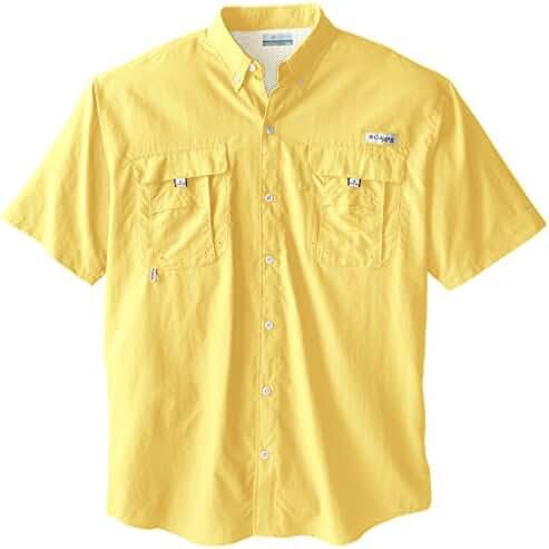 Columbia Men's Bahama II Short Sleeve Shirt, Sunlit, 2X Tall