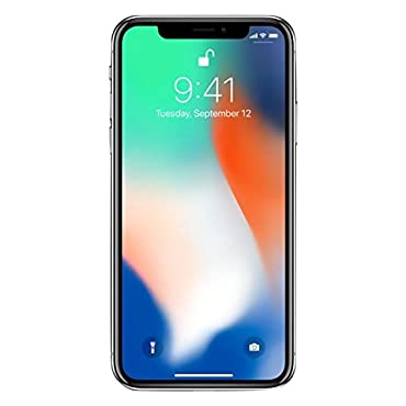Apple iPhone X 64GB Unlocked Phone (Silver)