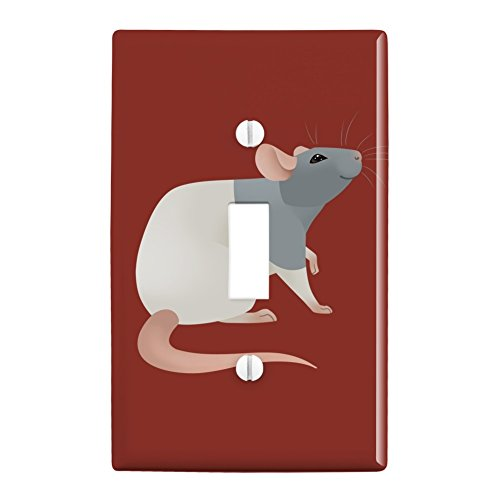 GRAPHICS & MORE Hooded Rat Plastic Wall Decor Toggle Light Switch Plate Cover