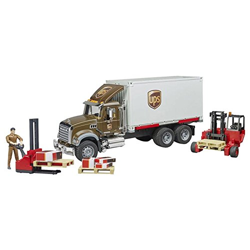 Kit 1/16 Bruder Mack Granite UPS Truck and Accessory Set 2828-62110