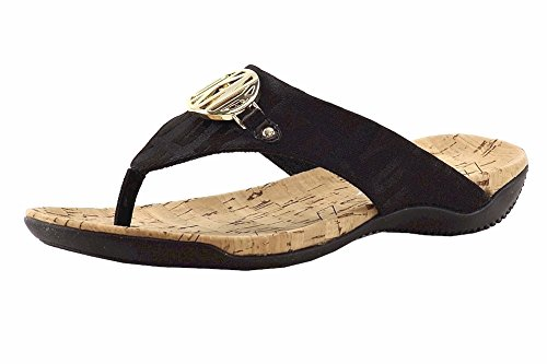 Donna Karan DKNY Women's Bianca Black Logo Flip Flop Sandals Shoes Sz: 6.5 Dkny Cork Sandals