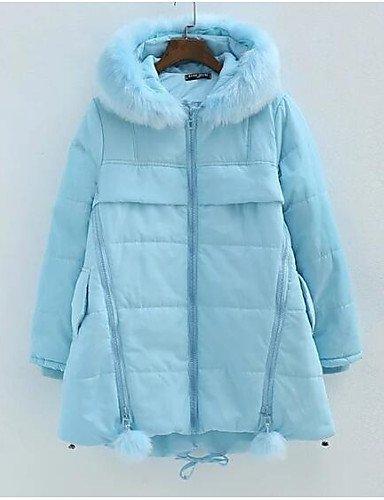 Blue l TT amp; liso ShangYi algodón 4 manga Casual de larga algodón mujer relleno Simple YYYURONG nbsp;x Abrigo z6TvcUw6x