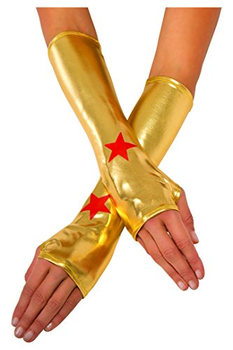 Rubie's Women's DC Superheroes Wonder Woman Gauntlets, Multi, One -