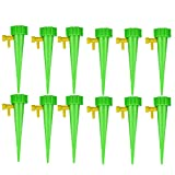 rft 12Pcs Plant Water Funnel Flower Drip Spikes Automatically Watering Tools,Self Watering Adjustable Stakes System,Watering Spikes Irrigation System.