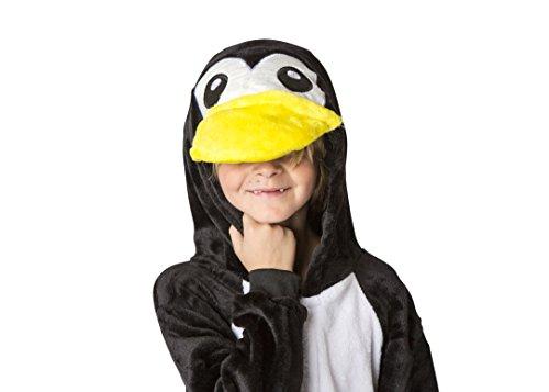 Child Plush Penguin Costumes (Ultra Soft Unisex, Boys, Girls Pajamas Kigurumi Costume for Kids (X-Large, Penguin))