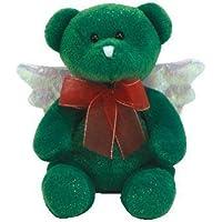 1 X TY Beanie Baby - HARK el oso ángel (versión verde)