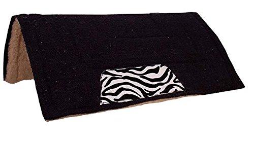 Tahoe Tack Zebra Print Saddle Pad, Black/Zebra
