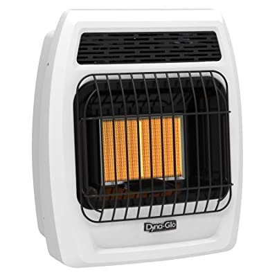 Dyna-Glo IRSS12NGT-2N 12,000 BTU Gas Infrared Vent Free Thermostatic Wall Heater, Natural Flame