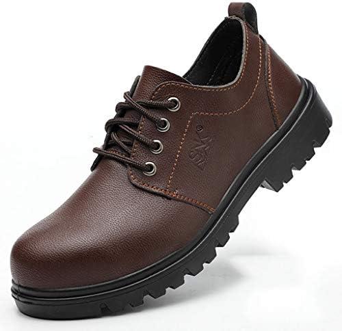 作業靴 絶縁滑り止めの男性用防護靴、鉄に強い革のやけどを防止する靴、消臭剤と抗スマッシングアンチスマッシング古い安全靴 安全靴 (色 : G g, サイズ さいず : 41)