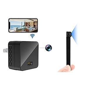 Flashandfocus.com 41WzCGi1QkL._SS300_ Spy Camera, WiFi Hidden Cameras Mini Phone Charger 1080P Wireless Spy Cam, Portable Nanny Cam with Night Vision, Motion…