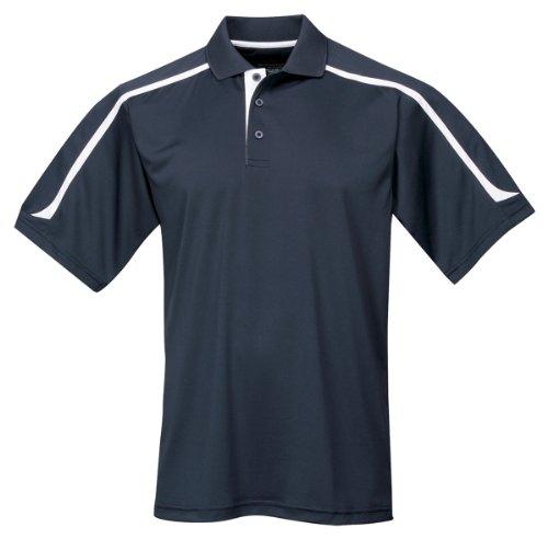 Tri-mountain Mens 100% Polyester UC Knit Polo Shirt. 174 - NAVY / WHITE_XLT