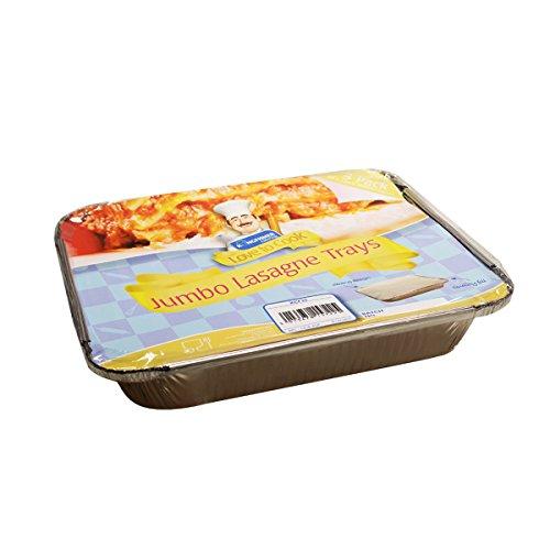 Pequeño, tamaño mediano, grande y Jumbo alimentos varios tamaños - Cocina bandejas de aluminio con tapa (30 unidades): Amazon.es: Hogar