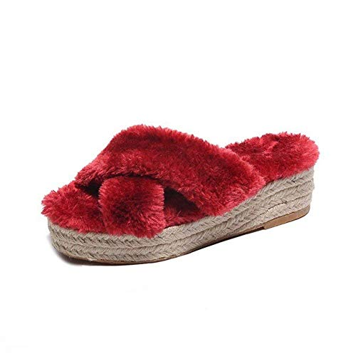 Donna Comfort Casual 40 Sed Alto Eu Da E Scarpe Pantofole Con Tacco RRwEvzqS