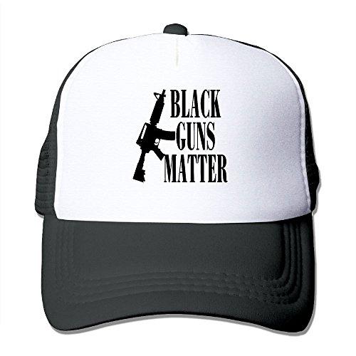 MarthaStill Black Guns Matter Mesh Hat Unisex Snapback Trucker Baseball Caps