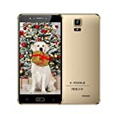 Unlocked Cell Phones 4g LTE, VMOBILE A9+, 6 inch 18:9 Full Screen 16GB ROM Android Unlocked Smartphones Dual Sim 2 + 1 Card Slots Smartphone Dual Camera 5 MP +8 MP (Gold)