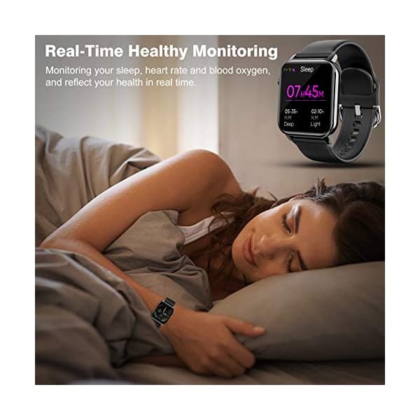 "<p id=""title"" class=""a-size-large a-spacing-none""><span id=""productTitle"" class=""a-size-large product-title-word-break"">1.4"" Fitness Tracker with 31 Sports Modes, Smartwatch with Heart Rate, Sleep Monitor and Step Tracker, 60 Days Standby Activity Tracker, Compatible with iOS Android, Black</span></p>  Smart Tickers"