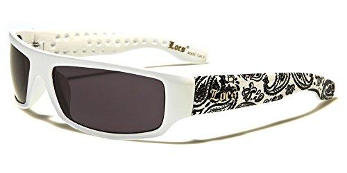 Locs 9003 White Bandana Wrap - Locs Glasses