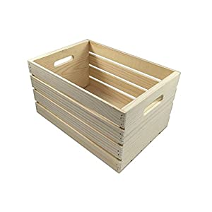 MPI WOOD Large Crate, Natural, 18″ X 12.5″ X 9.5″