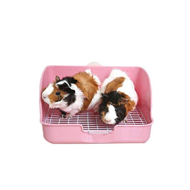 Pet Small Rat Toilet Square Potty Trainer Corner Litter Bedding Box Pet Pan for Small Animal//Rabbit//Guinea Pig//galesaur//Ferret