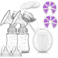 BREEZEE MARKET Doble Extractor Electrico De Leche Materna Con Botellas Almacenadoras, Parches Calor/Frío Y Almohadillas…