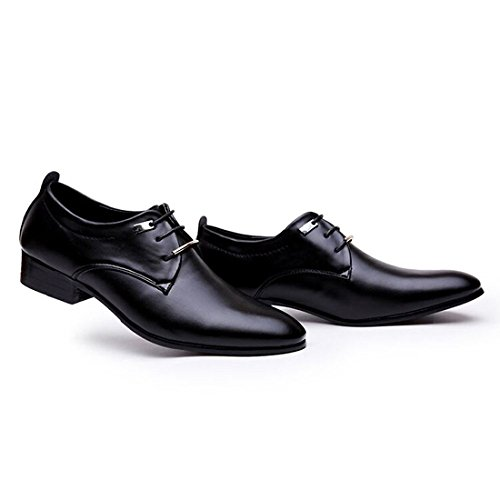 JINGJING Men's Pointed Toe Lace up Formal Oxfords Business Casual Wedding Dress Shoes by JINGJING (Image #6)
