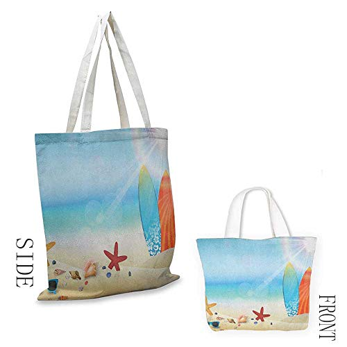 - Tote bag Seashells Holiday Theme Sunglasses Beach Summer Surfboard Daytime Sunny Starfish Seashells Coin cash wallet 16.5