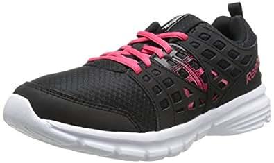 Reebok Women's Speed Rise Running Shoe, Black/Blazing Pink/White, 5 M US