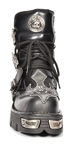 Rock Design Shoes A1407S1 Top Hi New Cross Silver Lace Ankle Boots Rockstar Leather up aqw76tn