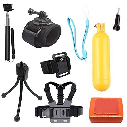 Homyl Kit De Accesorios para Cámara De Acción 7 En 1 para GoPro Hero Session / 5 Hero 1 2 3 3+ 4 5 6 SJ4000 5000 6000...
