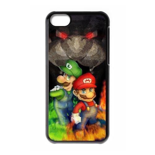 Super Mario Bros LX37MQ8 cas d'coque iPhone de téléphone cellulaire 5c coque J2LY8N0DL