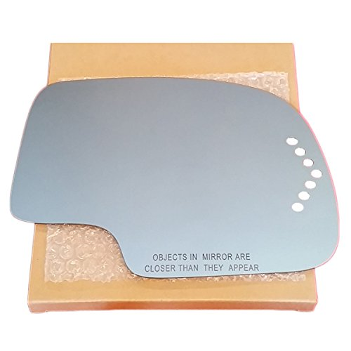 NEW Replacement Side Mirror Glass and Adhesive - Passenger Side Turn Signal NON HEATED - Silverado Sierra Suburban Tahoe Yukon Escalade Avalanche Truck SUV