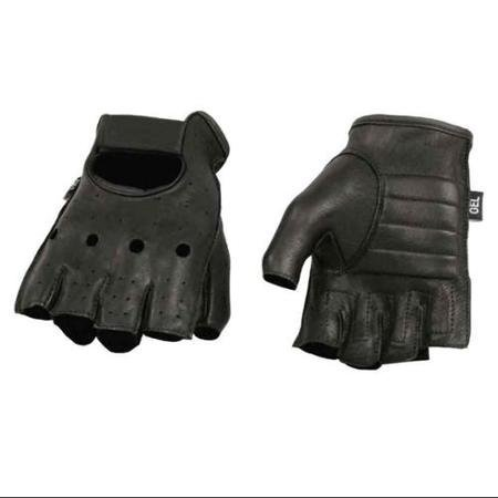 Milwaukee Leather Mens Deerskin Perforated Leather Fingerless Gloves (2XL) - 2X-Large SH851 WLM