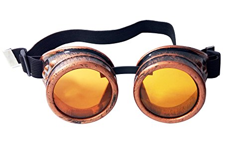 Minidot Steampunk Antique Safety Goggles (Copper - Orange Goggles