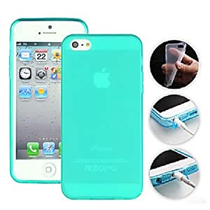 CECT STOCK TPU funda protectora del color del caramelo para el iphone 5/5s (colores surtidos) , Blanco