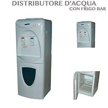 Compra Dispensador de agua fría y caliente. De suelo. Con mininevera para bebidas en Amazon.es