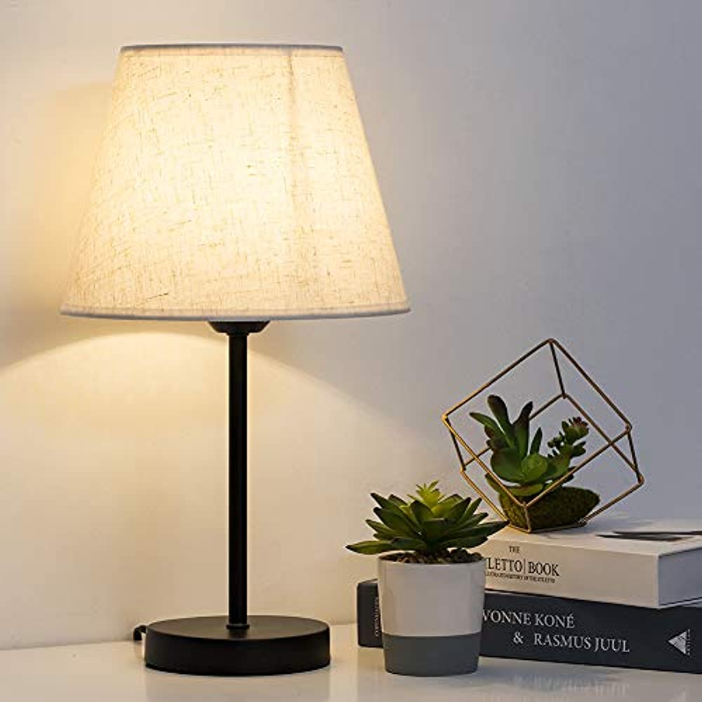 Bedside Table Lamps Small Nightstand Set Of 2 With